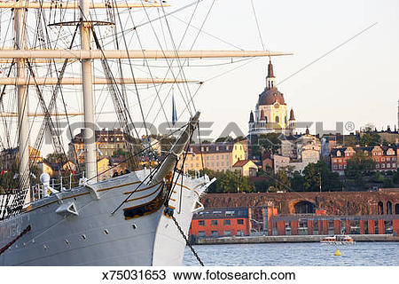 Stock Photo of Historic Ship Af Chapman, Stockholm, Sweden.