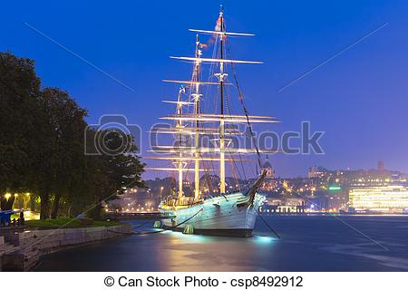 Stock Photo of Historical ship ''AF Chapman'' in Stockholm, Sweden.