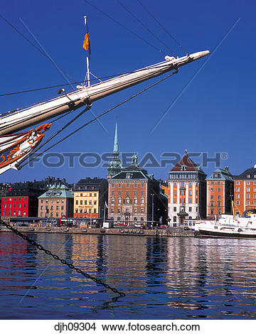Stock Photo of Af Chapman Ship in Old Town ( Gamla Stan.