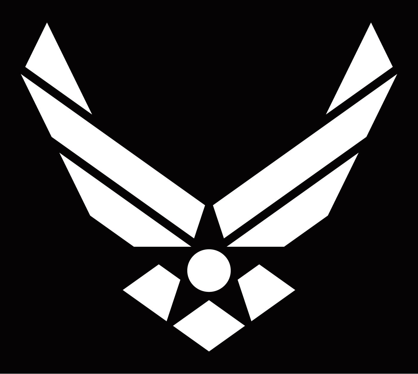 america flag with eagle and air force logo.