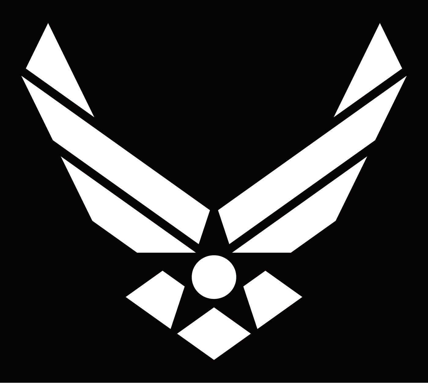Air Force Logo Silhouette.