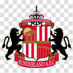 Team Logos, Sunderland AFC logo transparent background PNG.