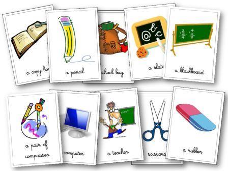 matériel de classe anglais aux cycles 2, 3:flashcards.