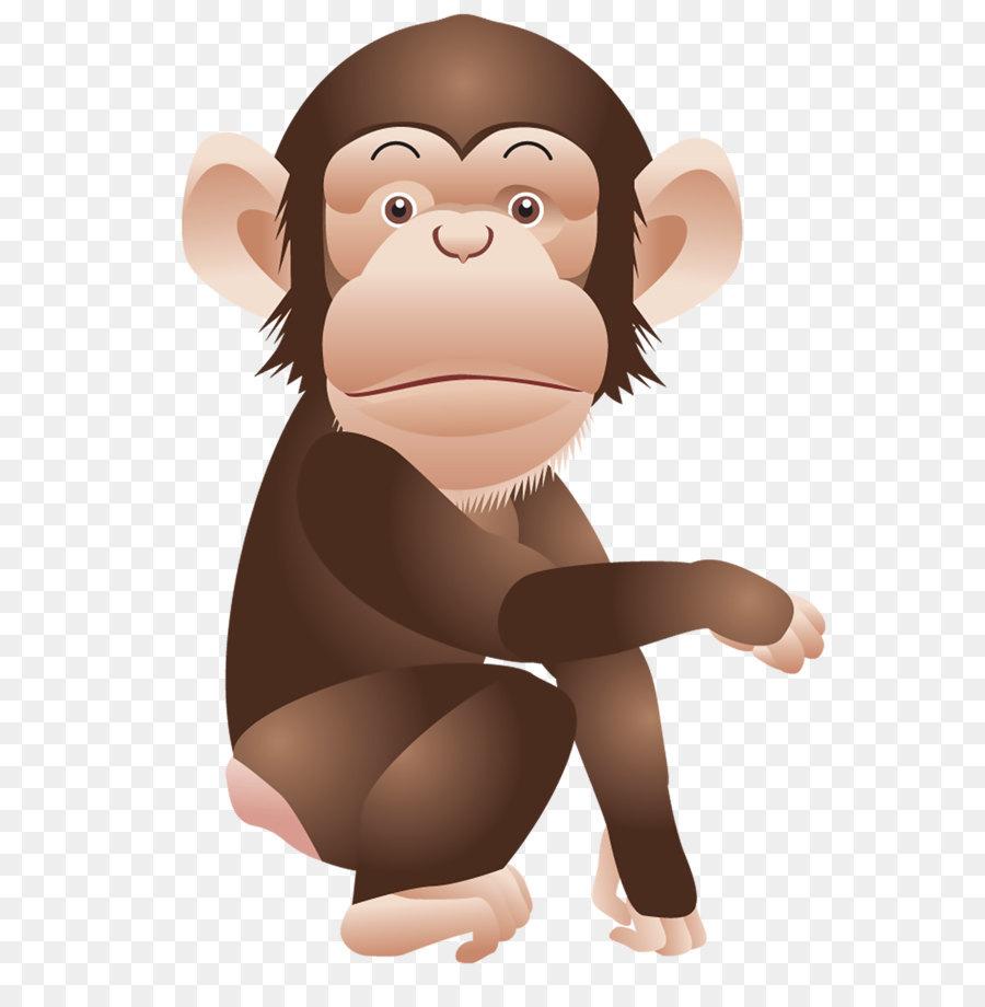 Schimpanse Affe Affen clipart.