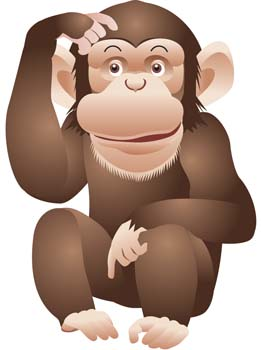 Monkey 11 Clipart Graphic.