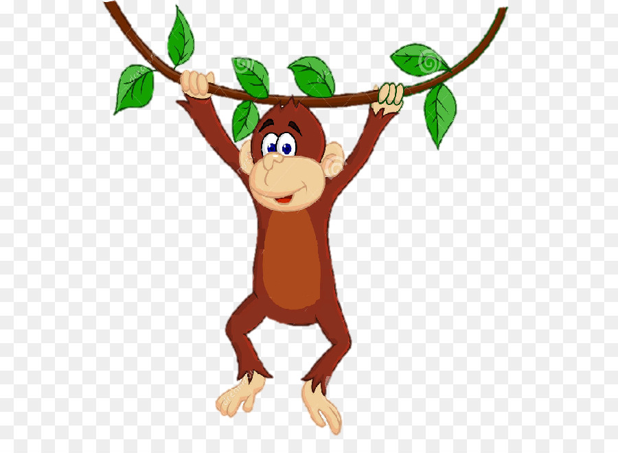 Monkey Royalty free clipart.