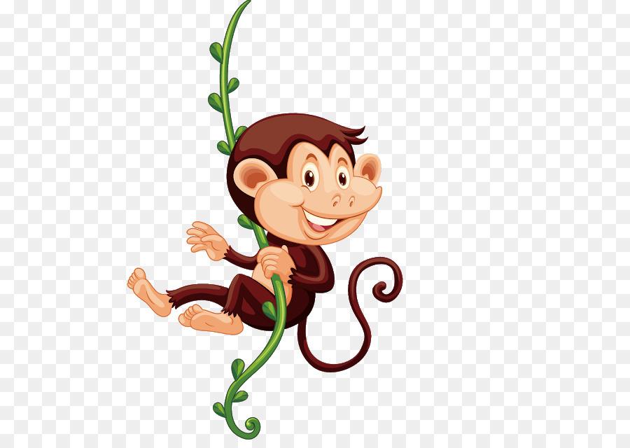 Affe der böse Affe ClipArt Vektorgrafiken Portable.
