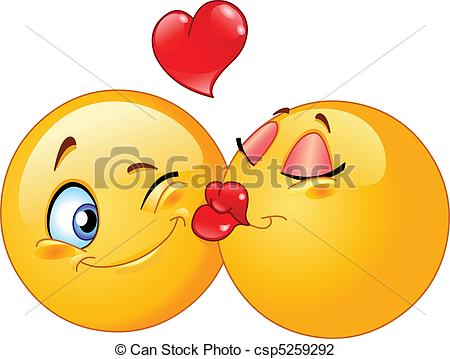 Kissing clipart #2