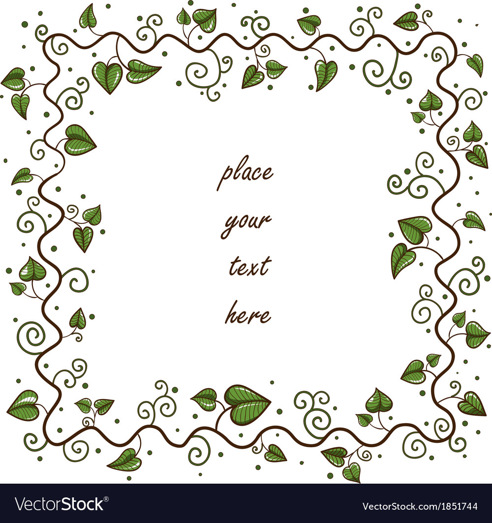 Leaves frame Greeting card concept.