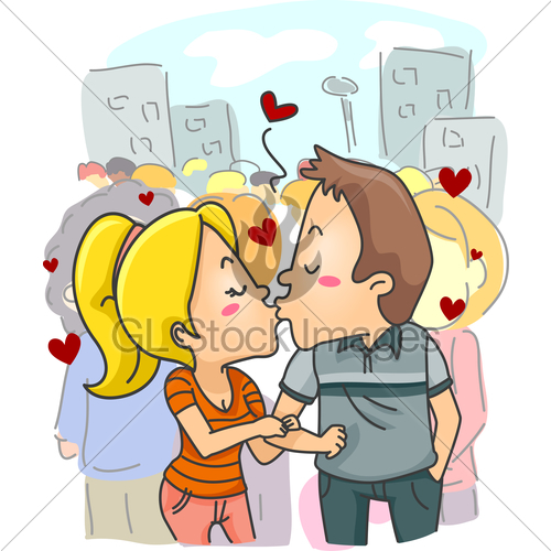 Couple Public Display Of Affection · GL Stock Images.
