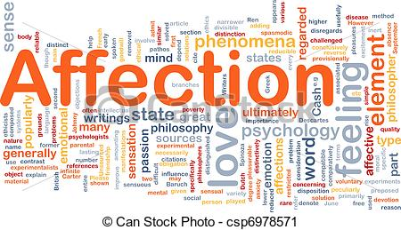 Clipart of Affection background concept.