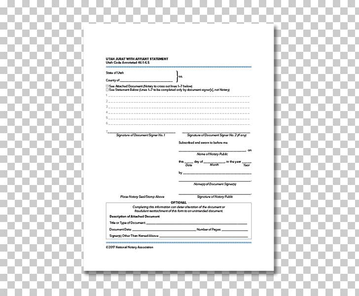 Jurat Utah Document Affidavit Notary public, Higher National.