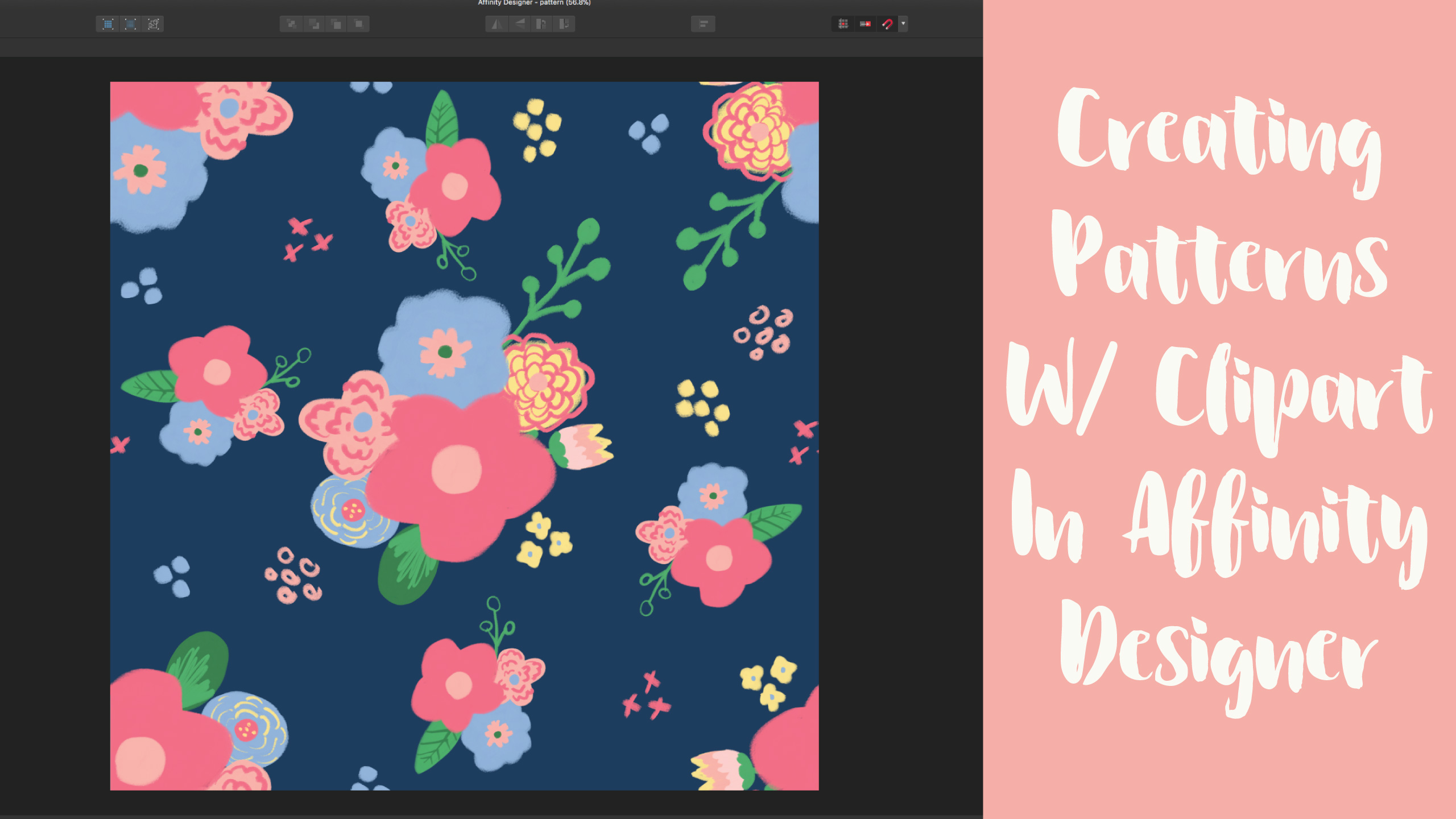 Creating Patterns With Clipart In Affinity Designer..