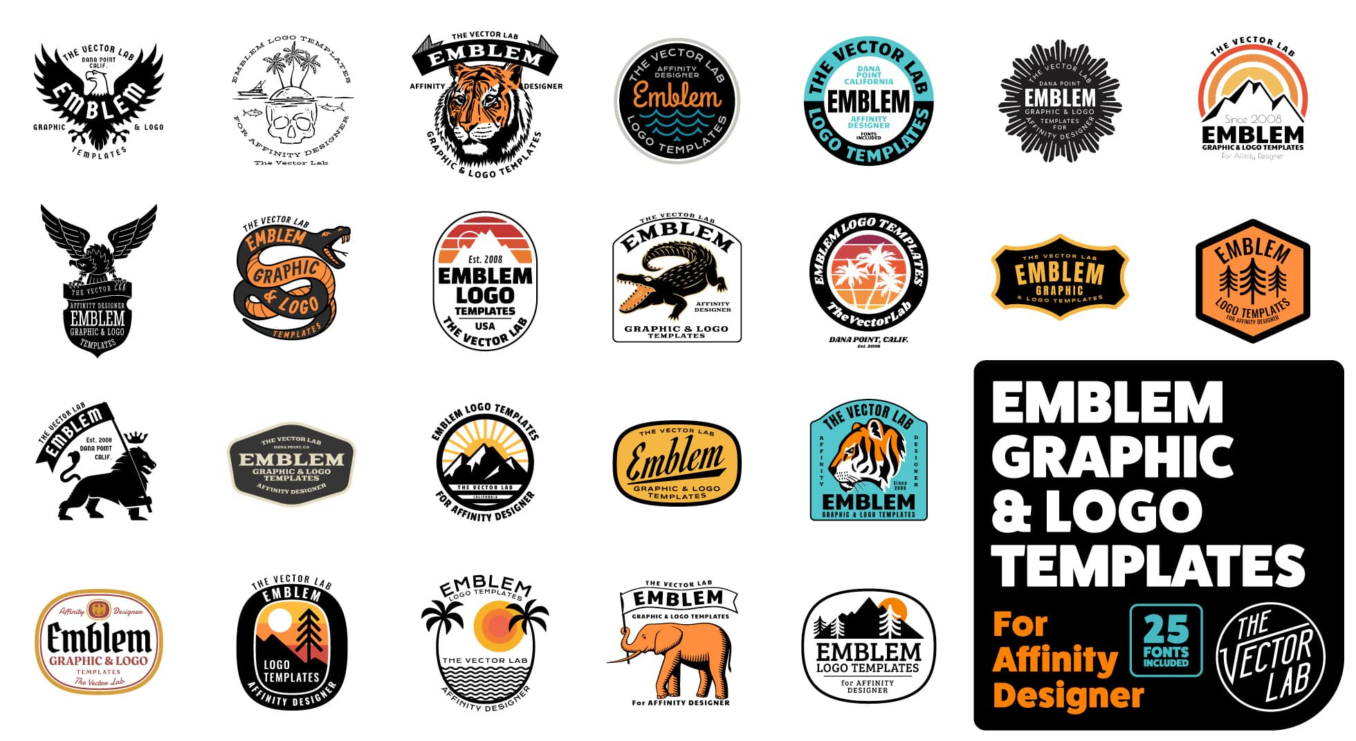 Emblem Graphic & Logo Templates by TheVectorLab.