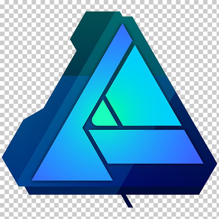 Affinity Designer Affinity Photo, web camera, triangle blue.