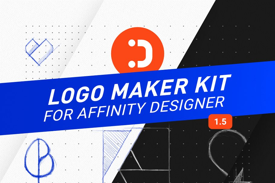 Logo Maker Kit for Affinity Designer ~ Logo Templates.