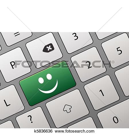 Clip Art of key with an affirmative vote k5836636.