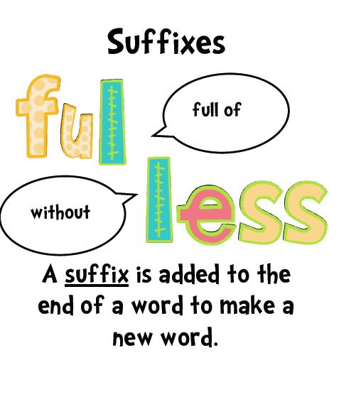 Suffix Clipart.