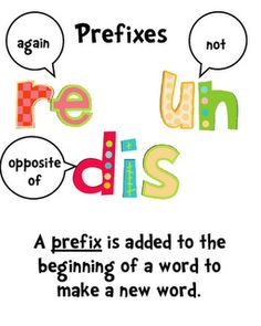 This is a great way for students to learn their prefixes. Under.