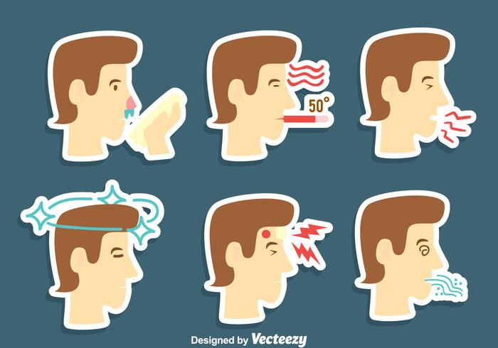 Pain And Affliction Vector Set.