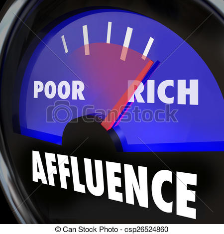 Stock Illustration of Affluence Gauge Measuring Gap Between Rich.