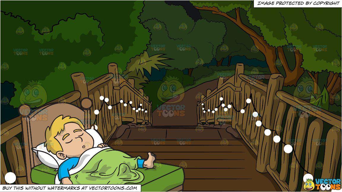 clipart #cartoon A Boy Sleeping Comfortably and Pretty.