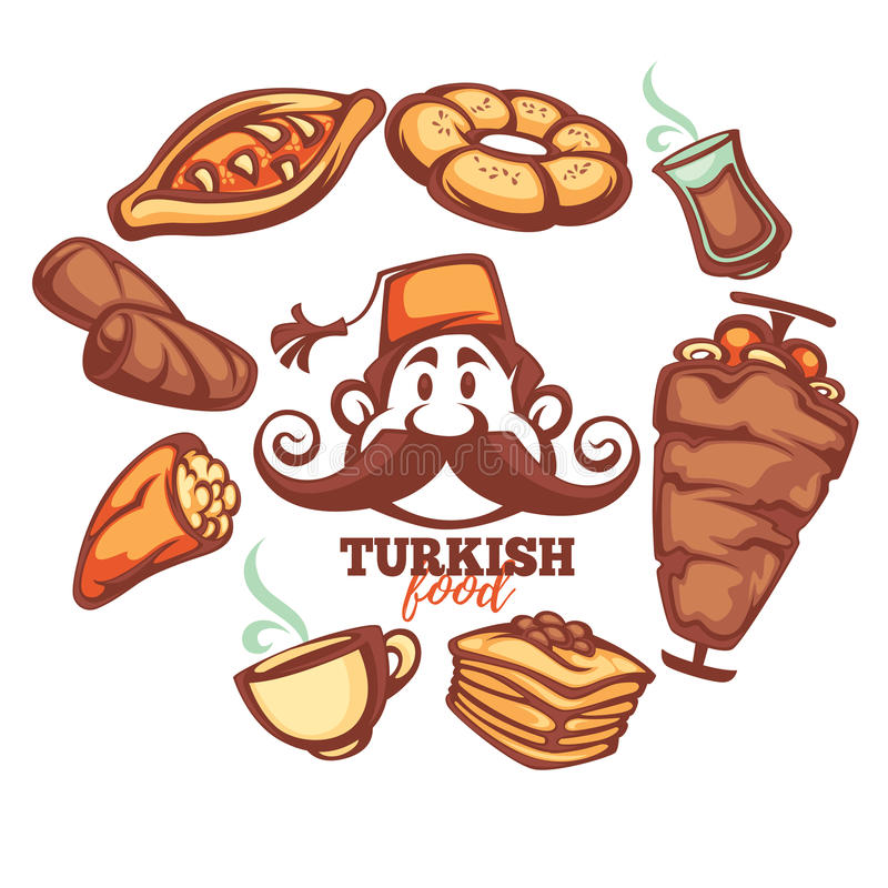 Afghan Food Stock Illustrations.