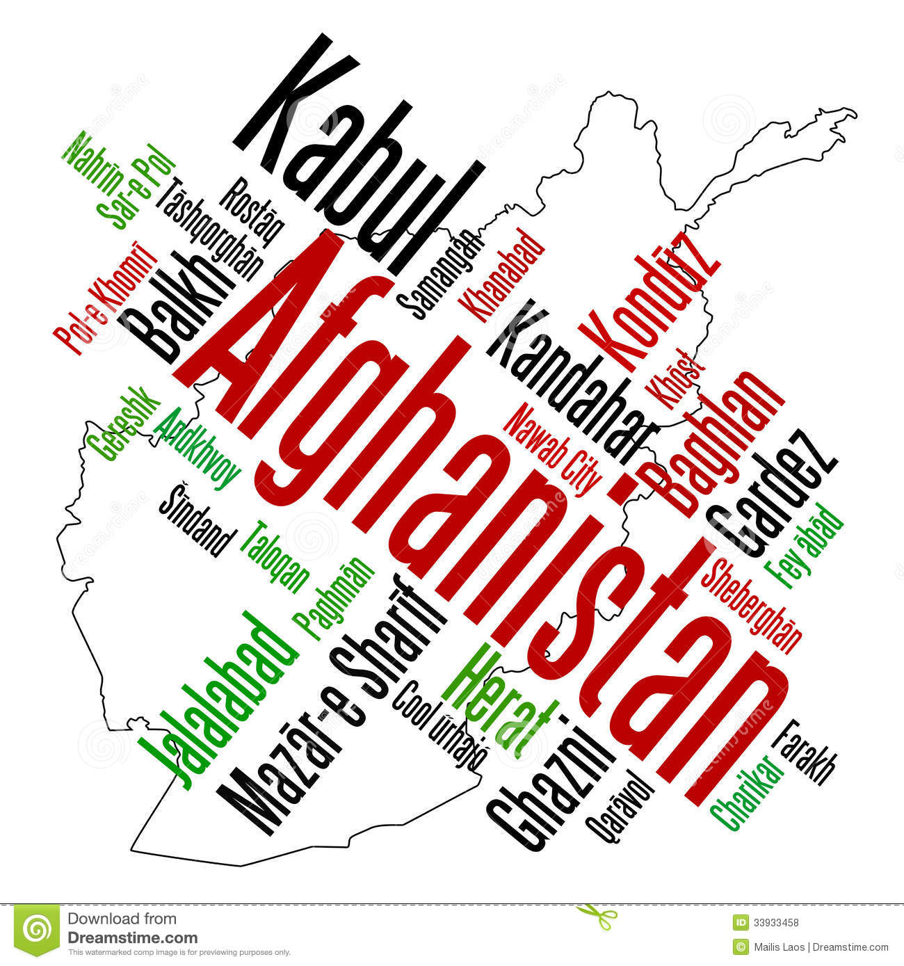 Clipart afghanistan map.