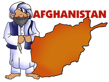 Free Afghanistan Clip Art by Phillip Martin.