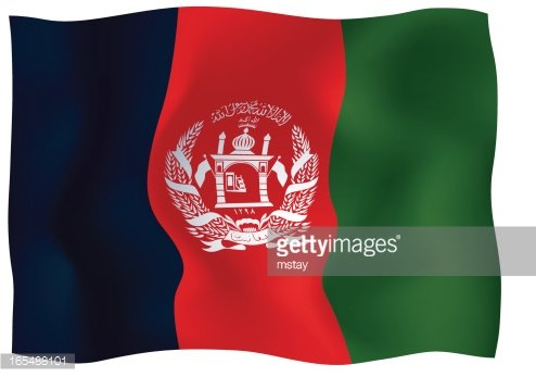 Afghanistan Flag Clipart Image.