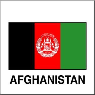 Clip Art: Flags: Afghanistan Color I abcteach.com.