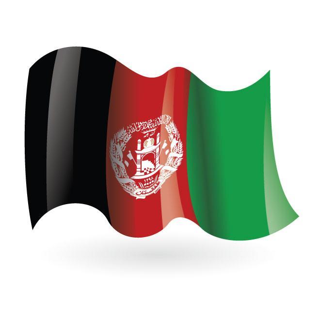 Afghanistan wavy flag vector.