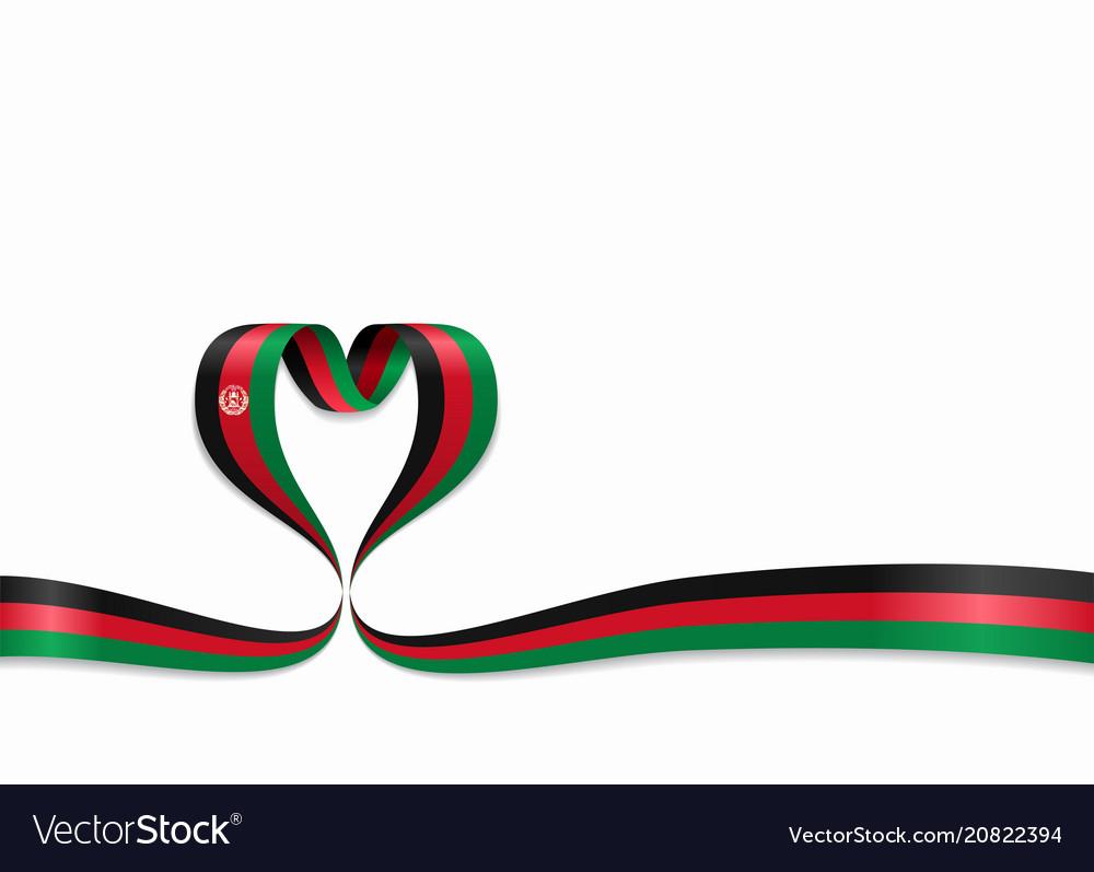 Afghanistan flag heart.