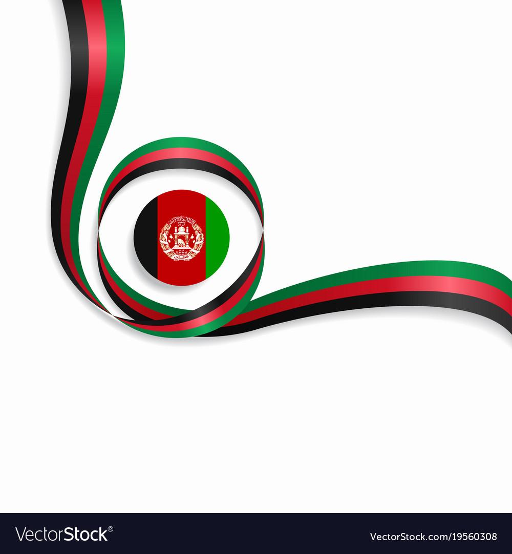 Afghanistan wavy flag background.