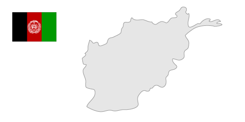 Afghanistan Map Clipart.