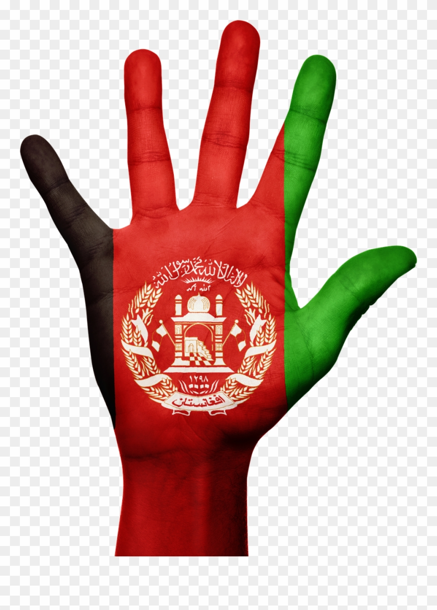 Afghanistan Hand Flag Afghan Png Image Clipart (#2555482).