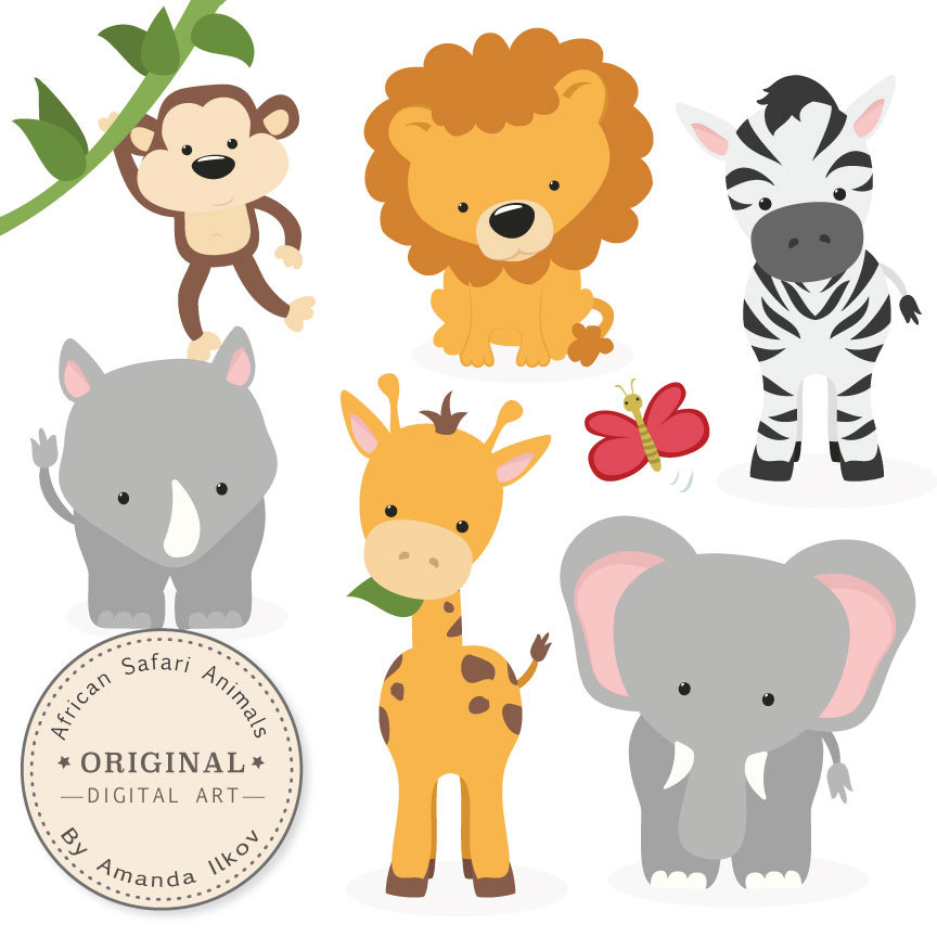 Premium African Safari Animals Clip Art & Vectors Safari.