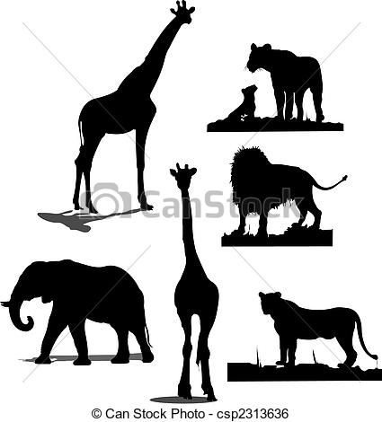 African animal Clip Art Vector Graphics. 12,298 African animal EPS.