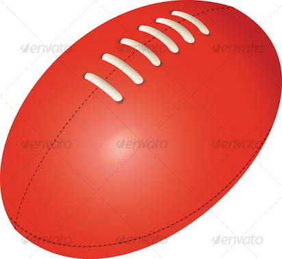 Afl football clipart free.