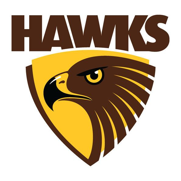Details about Hawthorn Hawks AFL Large Vinyl Wall Logo Decal.