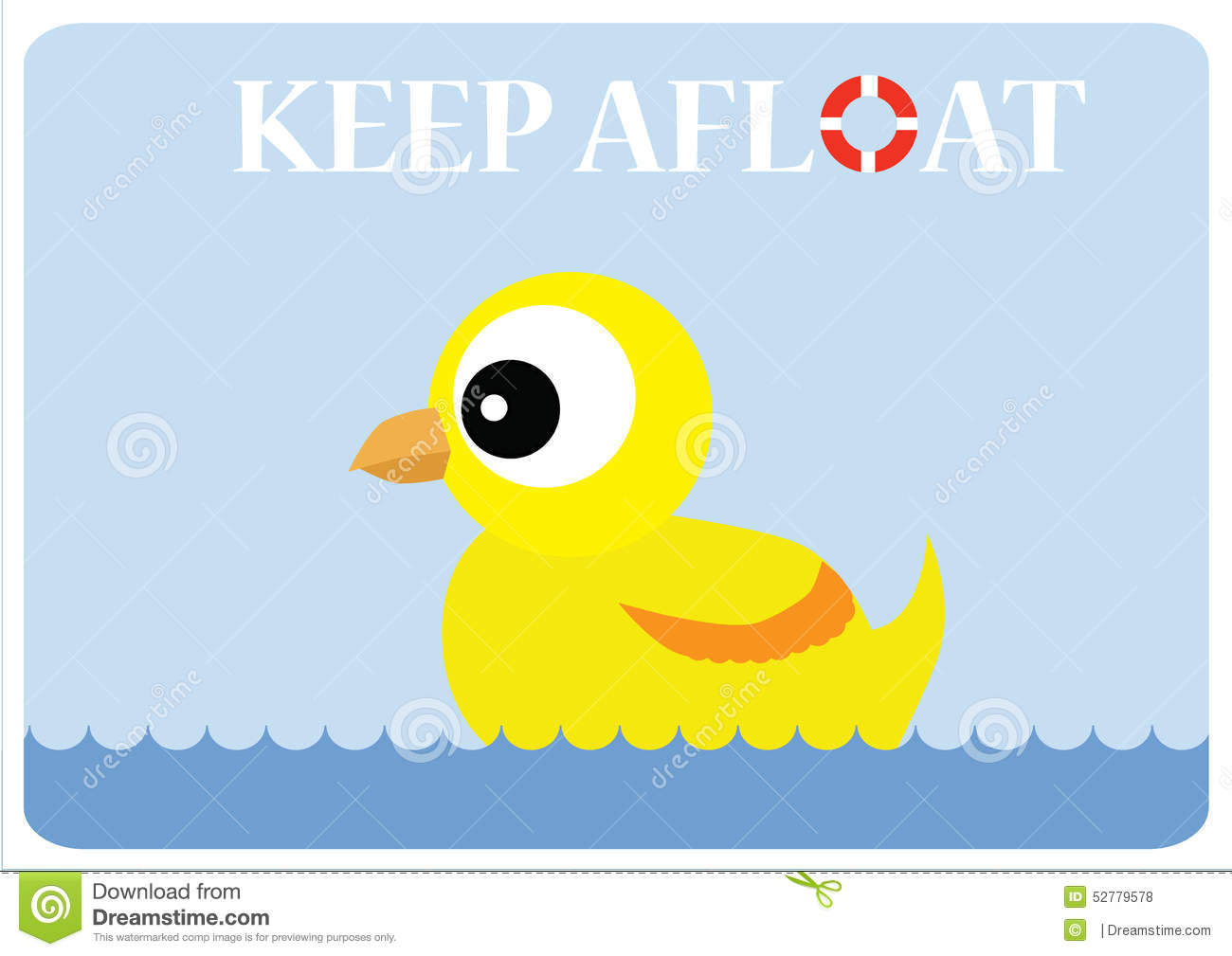 Keep Afloat Stock Illustration.
