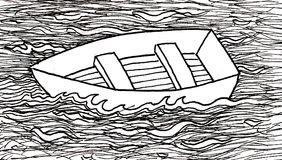 Row Boat Stock Illustrations.