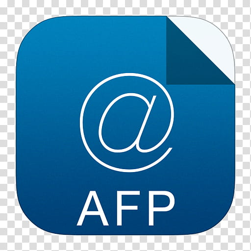 IOS Set , white AFP file logo transparent background PNG.