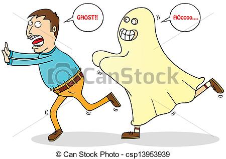 Vectors of afraid of ghost csp13953939.