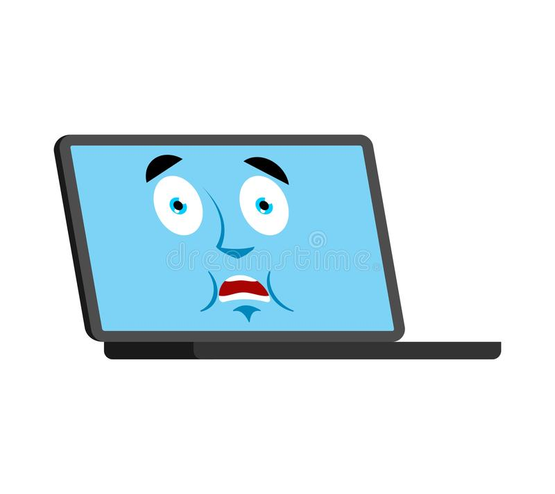 Scared Computer Stock Illustrations.