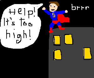 Download Free png Superman is afraid of heights.
