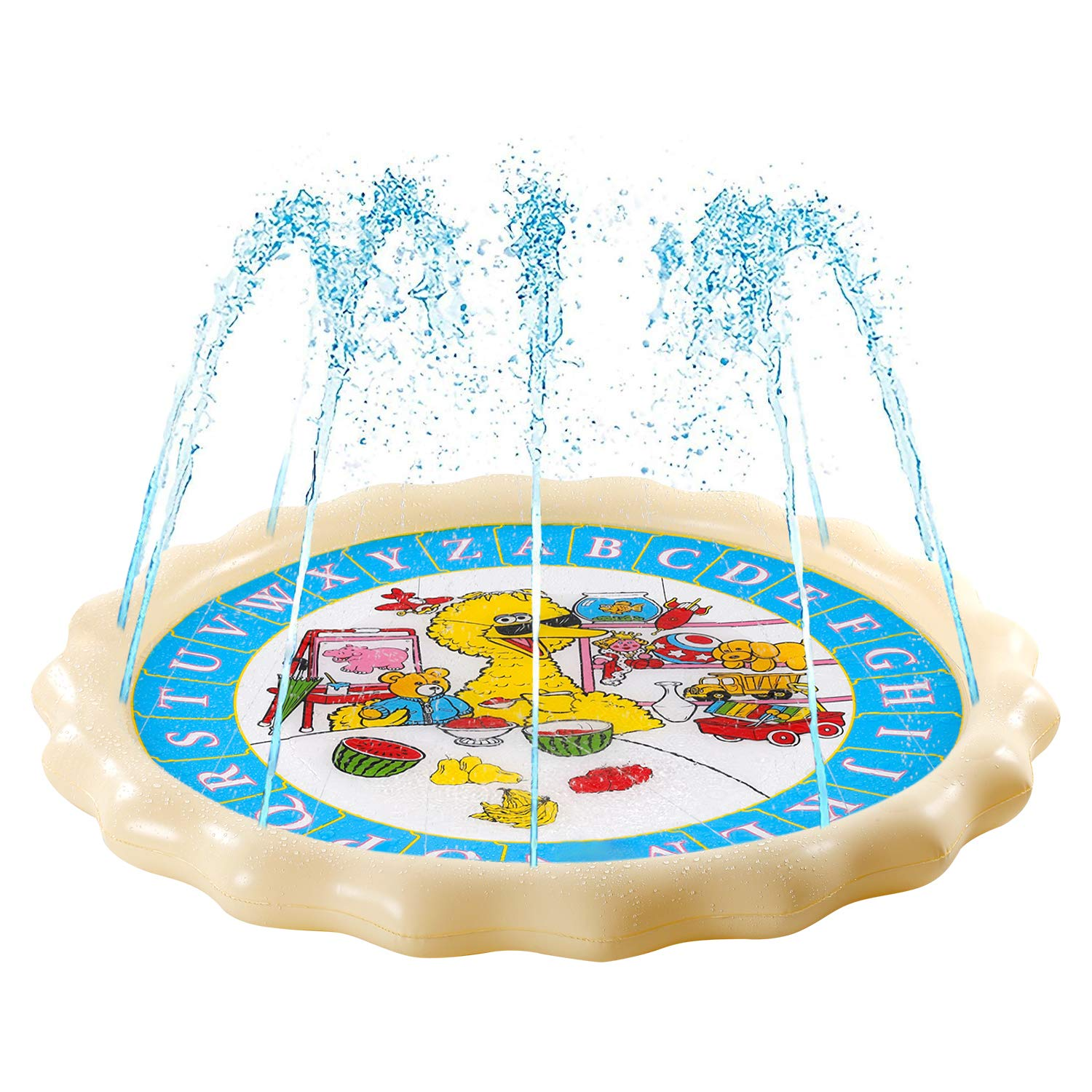 Supkiir Sprinkler Pad for Kids, Splash Play Mat for Learning, Inflatable  Water Toys for Boys and Girls.