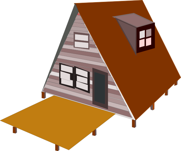 A Frame House Clip Art at Clker.com.