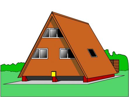 A frame house.