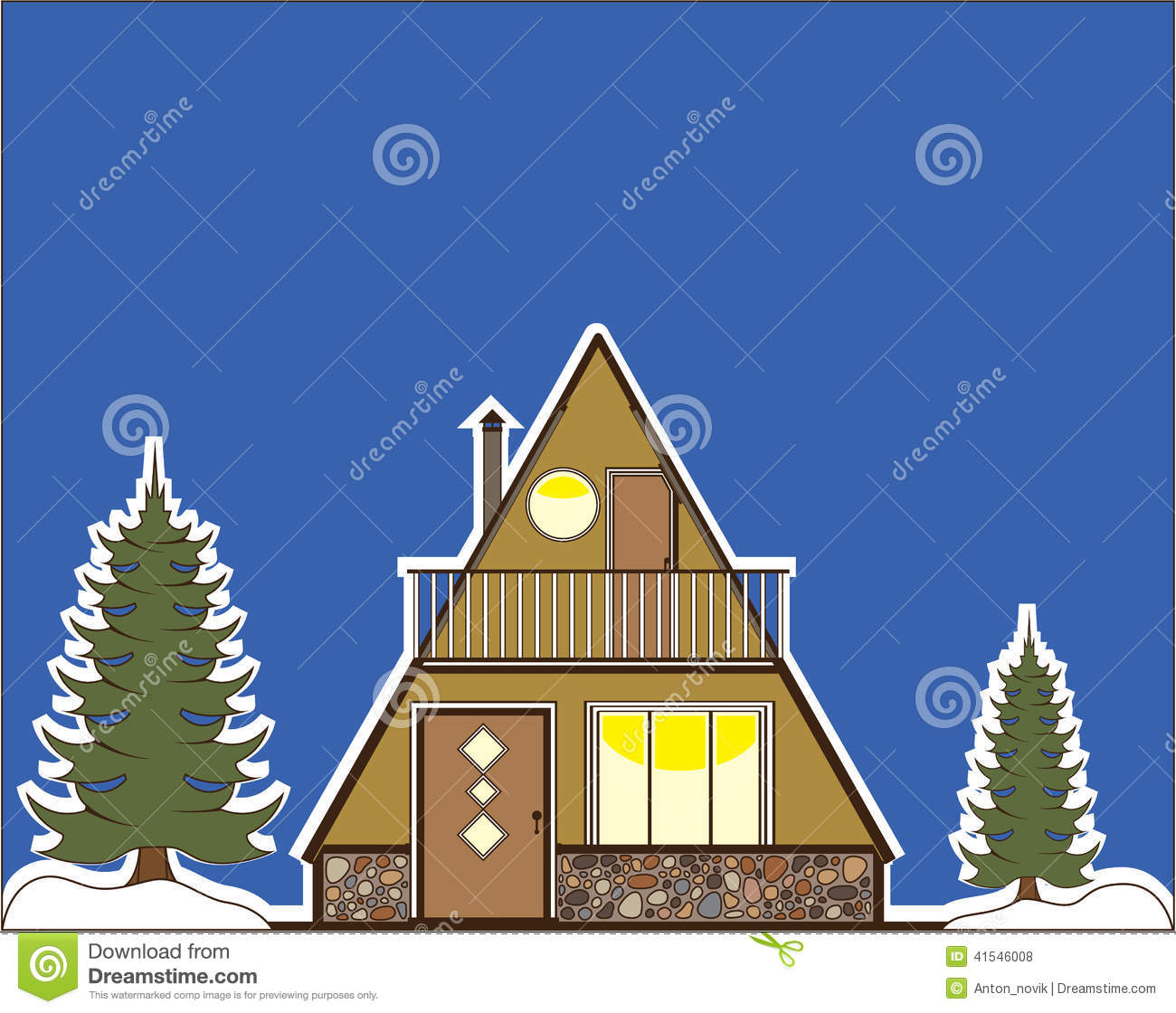 A Frame House Stock Vector.